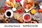 composition of breakfast | Shutterstock . vector #469823108