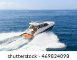 luxury motor boat  rio yachts... | Shutterstock . vector #469824098