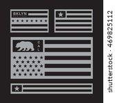 america flag typography  t... | Shutterstock .eps vector #469825112