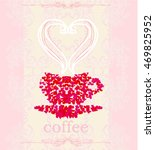 coffee cup from hearts  | Shutterstock . vector #469825952