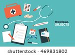 a set of flat healthcare and... | Shutterstock .eps vector #469831802