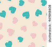 seamless hearts pattern. vector ... | Shutterstock .eps vector #469848608