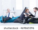 comfortable beanbag space at... | Shutterstock . vector #469865396