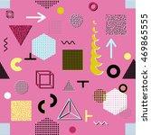 trendy geometric elements... | Shutterstock .eps vector #469865555
