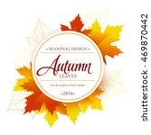 autumn seasonal banner design.... | Shutterstock .eps vector #469870442