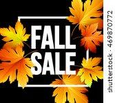 autumn seasonal banner design.... | Shutterstock .eps vector #469870772