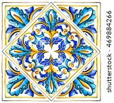 Italian Majolica Tiles  Floral...