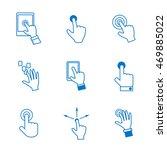 finger click icons set  ... | Shutterstock .eps vector #469885022