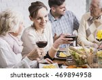 family members are discussing... | Shutterstock . vector #469894958