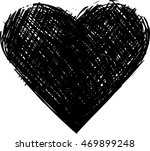 hand drawn heart icon | Shutterstock .eps vector #469899248