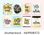 set hand drawn cards design.... | Shutterstock .eps vector #469908572