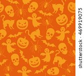 halloween seamless pattern with ... | Shutterstock .eps vector #469919075