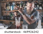 barman is making cocktail at... | Shutterstock . vector #469926242