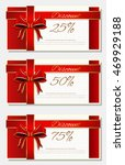 set of discount cards with 25 ... | Shutterstock .eps vector #469929188