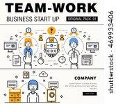 modern team work pack. thin... | Shutterstock .eps vector #469933406
