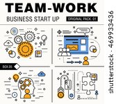 modern team work pack. thin... | Shutterstock .eps vector #469933436