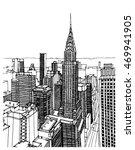 scene street illustration. hand ... | Shutterstock .eps vector #469941905