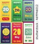 greeting happy birthday card ... | Shutterstock .eps vector #469946012