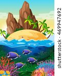 scene with island and life... | Shutterstock .eps vector #469947692