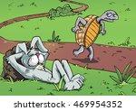 Cartoon Tortoise And Hare....