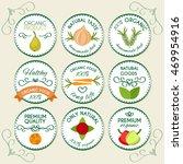 flat food design logo concept...   Shutterstock .eps vector #469954916