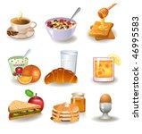 healthy breakfast | Shutterstock .eps vector #46995583