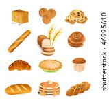 pastry icons | Shutterstock .eps vector #46995610