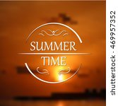 summer holidays poster with... | Shutterstock .eps vector #469957352