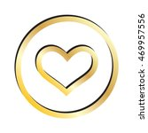 Gold Heart Outline Icon