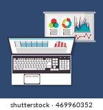 spreadsheet laptop document... | Shutterstock .eps vector #469960352