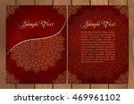 set of cards or invitations... | Shutterstock .eps vector #469961102