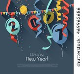 happy new year 2017   modern... | Shutterstock .eps vector #469962686