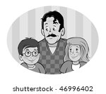 cartoon vector gray scale... | Shutterstock .eps vector #46996402