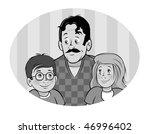 cartoon vector gray scale... | Shutterstock .eps vector #46996402