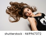 portrait of a beautiful woman... | Shutterstock . vector #469967372