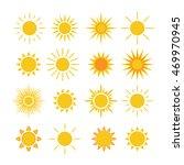 sun icons set. collection light ... | Shutterstock . vector #469970945