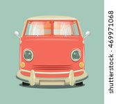 pink color minibus . cartoon... | Shutterstock .eps vector #469971068
