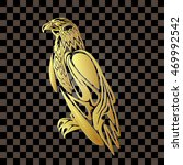 golden eagle on a transparent... | Shutterstock .eps vector #469992542