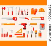working tools icon set  hand... | Shutterstock .eps vector #470001632