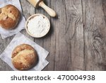 crusty bread | Shutterstock . vector #470004938