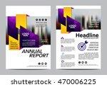 purple brochure layout design...   Shutterstock .eps vector #470006225