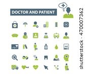 doctor and patient icons | Shutterstock .eps vector #470007362