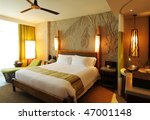 Stock photo hotel room in concept back to nature 47001148