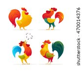 vector new year bird symbol... | Shutterstock .eps vector #470014376