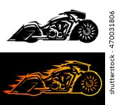 Bagger Style Motorcycle Vector...