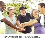 group of senior retirement... | Shutterstock . vector #470032862