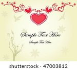 love floral greeting card | Shutterstock .eps vector #47003812