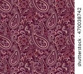 seamless burgundy pattern with... | Shutterstock .eps vector #470038742