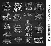 hand drawn lettering slogans.... | Shutterstock .eps vector #470049176