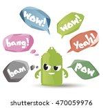 vector set of speech bubbles in ...   Shutterstock .eps vector #470059976